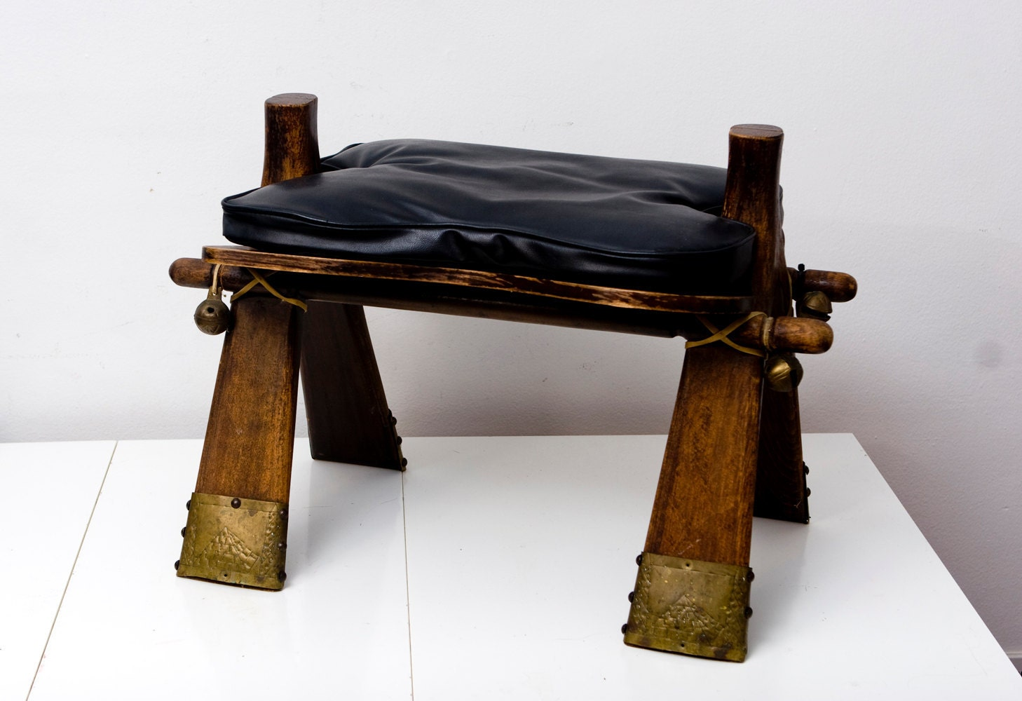 Antique Folk Art Folding Camel Saddle By Brightwall On Etsy