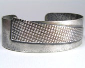 RESERVED Layered Sterling Silver Cuff Bracelet with Asymmetric  Shape and Patterns