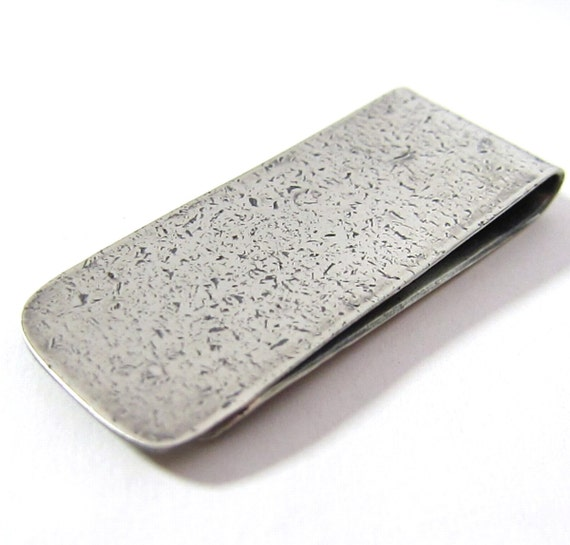 Contemporary Urban Textured Money Clip in Sterling Silver