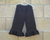 Girls' Brown Ruffle Corduroy Pants in custom sizes