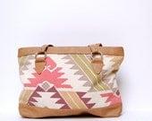 multicolor SOUTHWEST 80s CANVAS print bag