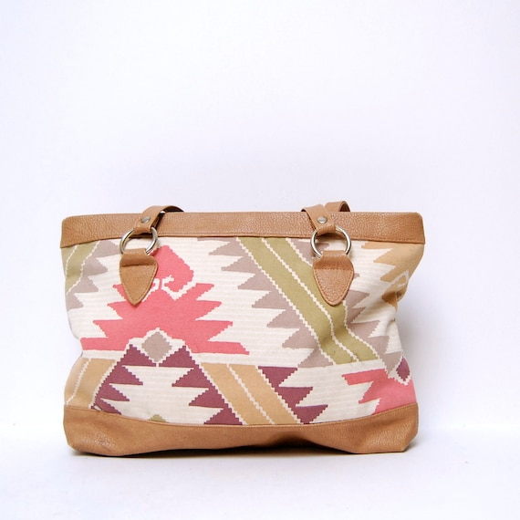 multicolor SOUTHWEST 80s CANVAS print bag
