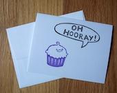 Oh Hooray Cake Single Notecard