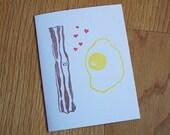 Bacon Loves Egg Single Notecard