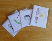 Foody Love Notecard Set