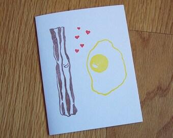 Bacon Loves Egg Notecard Set