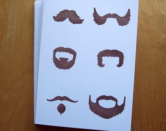 Les Moustaches Single Notecard
