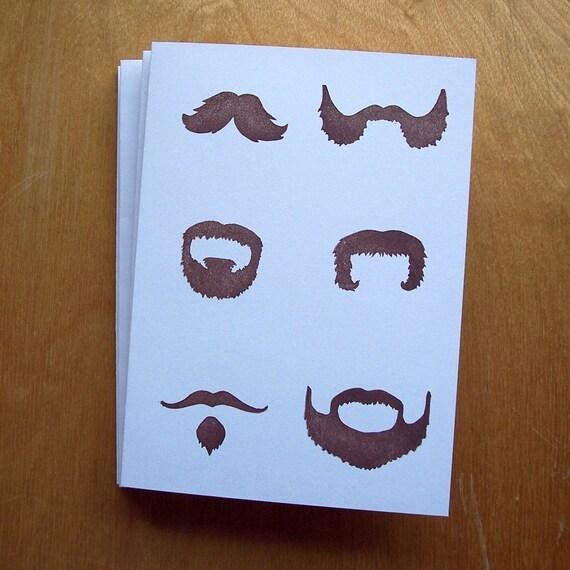 Les Moustaches Notecard Set