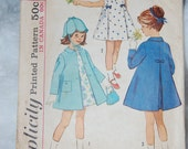 Simplicity 5337 Girls coat/dress vintage size 2