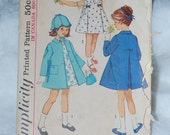 Simplicity 5337 Girls coat/dress vintage size 5
