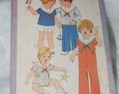 For Jo Only Simplicity 8376 toddler size 3 Sailor suits