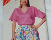 See & Sew 6403 top and culottes size 16-18-20-22-24
