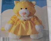 New McCalls Crafts 3016 Cat Puffalumps Stuffed Animal Sewing Pattern UNCUT