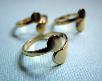 Double pad adjustable gold ring blanks (3)