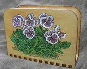 Painted Pansies Napkin or Letter Holder