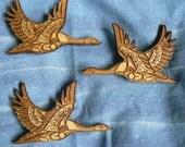 2 Inch Native Alaskan Styled Canadian Goose cedar brooch