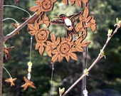 Hummingbirds and Morning Glories Mobile Hanging