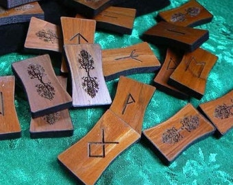 Elder Futhark or Northumbrian World Tree Cedar Rune Sticks