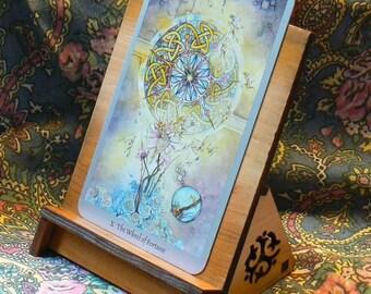 Celtic Triskele Cedar Card Stand