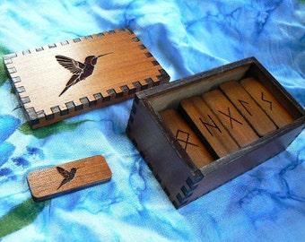 Hummingbird  Elder Futhark Rune Set