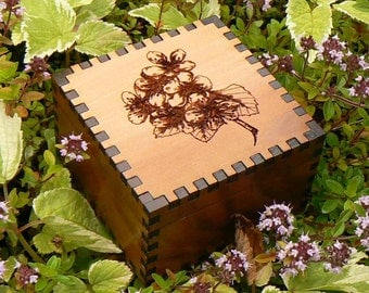 Apple Blossom 3x3 Cedar  Box