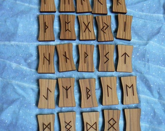 Earth Friendly Elder Futhark, Anglo-Saxon or Northumbrian Natural Cedar Rune Sticks