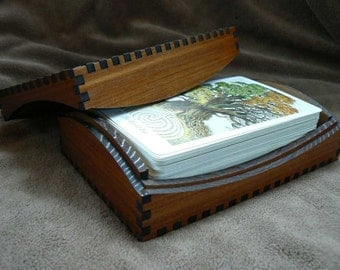 5 7/8 x 3 7/8 Curvy Red Cedar Tarot Box 2 sizes
