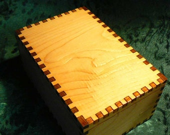 4.75 x 3.125 x 2.125 Small Cedar Tarot Storage Box