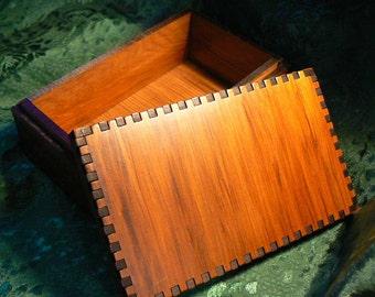 5 7/8 x 3 7/8 Cedar Wave  Tarot Box