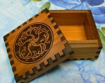 2.5 x 2.5 x 1.5 Roots of Life Cedar Jeweler's Box
