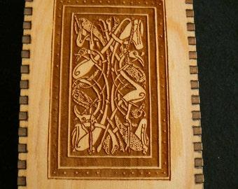 5.75 x 3.8 x 1.5 Celtic Cranes Red Cedar Box