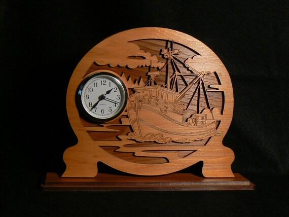 Cedar Seiner Boat Clock