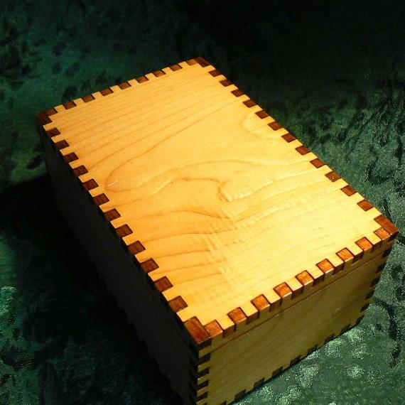 4.75 x 3.125 x 2.125 Small Cedar Tarot Storage Box