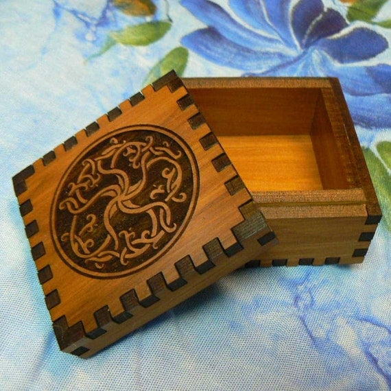 2.5 x 2.5 x 1.5 Roots of Life Cedar Jeweler's Box