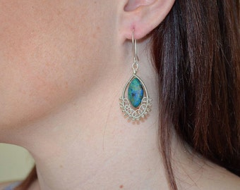 Chrysacolla Earrings