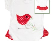 Red Bird Babygro /  / Baby Shirt / All in One / One Piece / Romper / Bodysuit / Baby Clothes