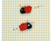 Ladybird Hair Slides  Ladybug Girls Ladybug Hair Accessories  Bobby pins  Hair Grip