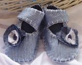 Blue Flower Babies Shoes