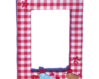 Hen Photo Frame - Personalized / Bird Picture Frame - Personalized / Children's / Girls Frame / Nursery Decor