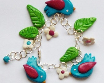 Children's Bird Bracelet / Girls Jewellery / Jewelry