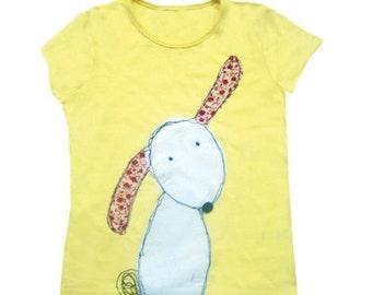 Rabbit T-Shirt / Girls Tee Shirt / Kids Top / Children's Clothes / Easter Gift / Easter Clothes