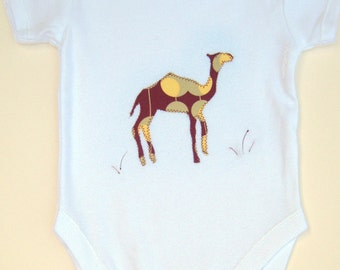 Camel Babygro / Bodysuit / Baby Shirt / All in One / One Piece / New Baby