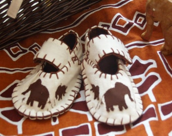 Elephant Baby Shoes / African Style Shoes / New Baby Gift