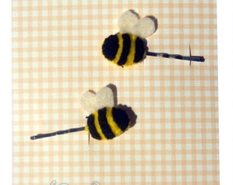 Bee Hair Slides / Children's / Girls Hair Accessories