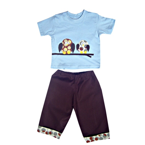 Owl Tee Shirt And Pants T Shirt And Trousers Boys Outfit