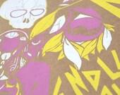 Circle Handprinted Silkscreen Poster