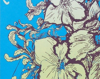 Magnolia Electric Co Handprinted Silkscreen Poster
