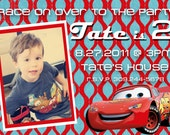 Disney Cars 2 Lightning McQueen Birthday Photo Invitation 5x7 - Print Your Own
