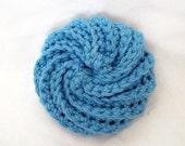 Blue Crochet Face Scrubbie
