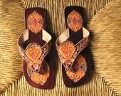 Virgin Vintage Handmade Indian Sandals from Panaji, India
